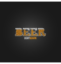 beer design menu background vector image