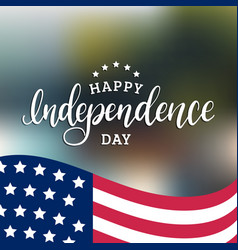 Happy independence day of united states of america vector