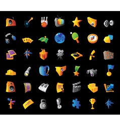 Icons for entertainment vector image vector image