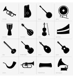 Musical instruments part 2 vector image vector image