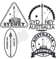 Sydney city stamps vector image vector image