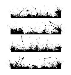 Four black frames splash vector image vector image