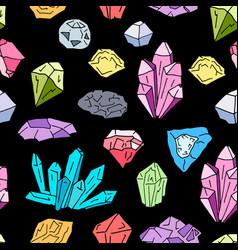 gems pattern vector image