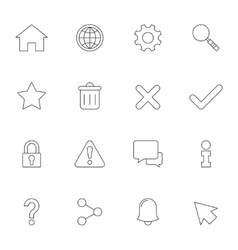 Web interface outline icons vector image