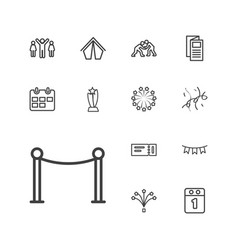 13 event icons vector