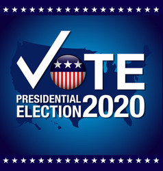 2020 united states presidential election banner vector