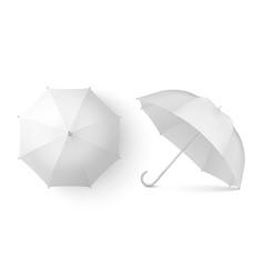 3d realistic render white blank umbrella vector image