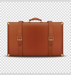 3d realistic retro leather brown threadbare vector image