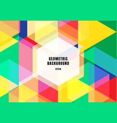abstract background colorful geometric hexagons vector image
