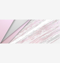 Abstract corporate banner with pink grey marble vector