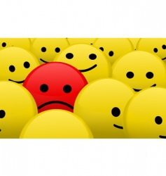 alone in the crowd vector image