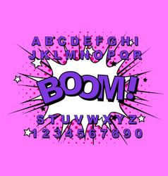 alphabet comic retro vector image
