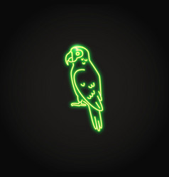 amazon parrot icon in glowing neon style vector image