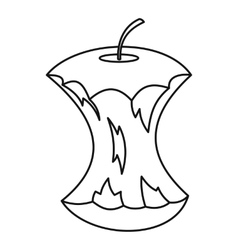 Apple core icon outline style vector