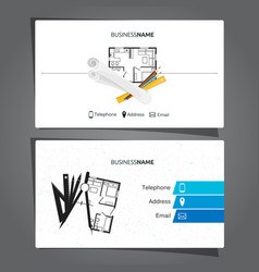 Architecture and construction business card vector