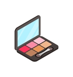 Blusher icon isometric 3d style vector