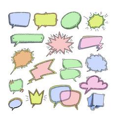 bubbles blank speech bubbling messages vector image