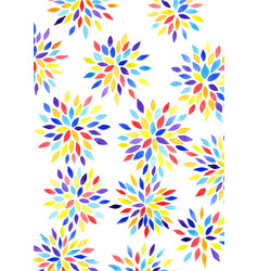 Chrysanthemum flower watercolor hand painting vector