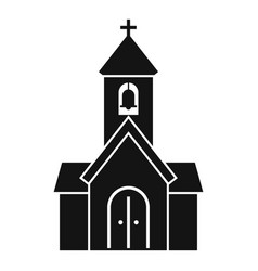 City chapel icon simple style vector