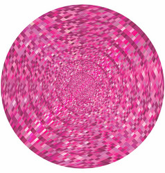 Concentric pink circles in mosaic vector
