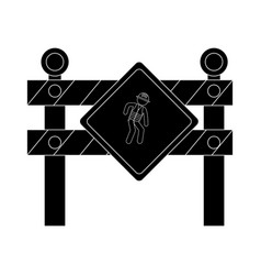 Construction barrier isolated icon vector