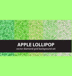 Diamond pattern set apple lollipop seamless vector