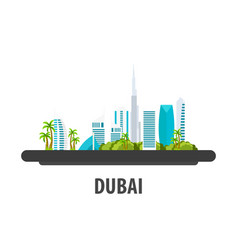 dubai travel location vacation or trip and vector image
