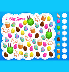 Easter i spy game or puzzle kids education vector