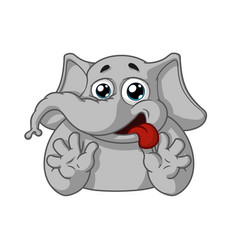 Elephant wants-wants strong desire vector