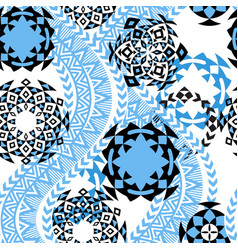 Ethnic background tribal seamless pattern vector