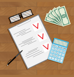 financial planning and counting vector image