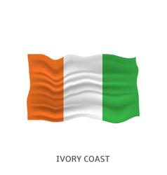 flag ivory coast vector image