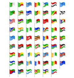 Flags of Africa countries vector