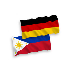 flags philippines and germany on a white vector image