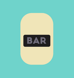 Flat icon stylish background poker bar sign vector