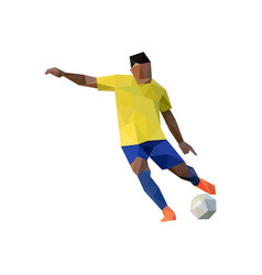 football player in low poly art vector image