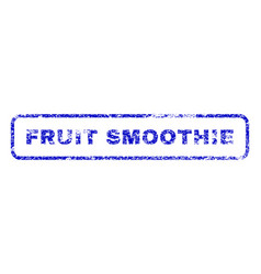 Fruit smoothie rubber stamp vector