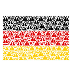 German flag collage of warning items vector