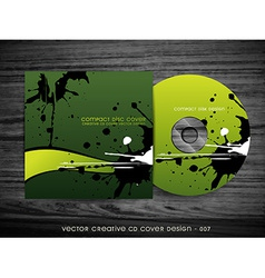 ink splash cd design vector image