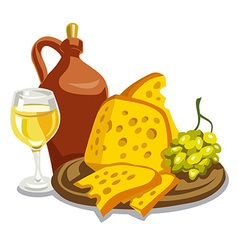 jug with wine vector image