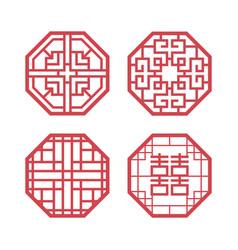 korean traditional design elements vector image