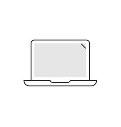 laptop linear icon on white background notebook vector image