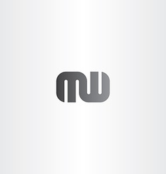 letter m and w logo combination logotype vector image