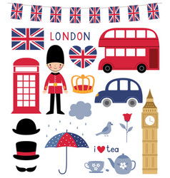 london symbols design elements set vector image