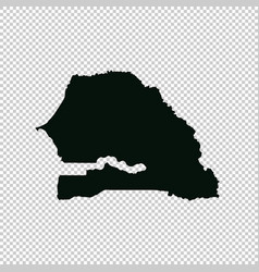 Map senegal isolated black vector