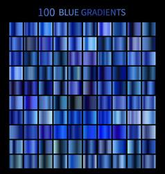 mega set 100 blue gradients vector image