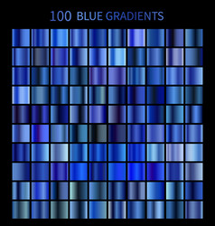 Mega set of 100 blue gradients vector