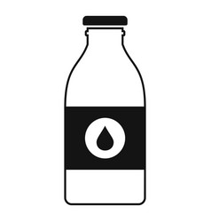 Milk glass bottle icon simple style vector