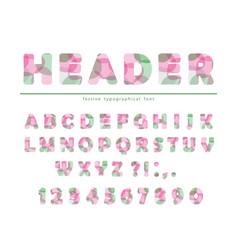 Modern vibrant font stylized letters and numbers vector