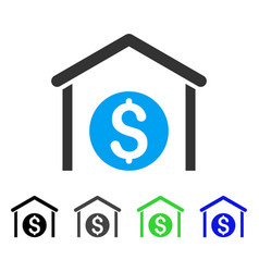 Money storage flat icon vector